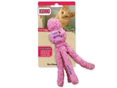 A really fun toy for your cat to knock around, carry and hug and kick. Contains cat nip. Has a rubber kong toy inside, with durable material around it for you cat to chew, claw and kick.