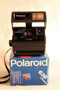 Vintage camera Polaroid 636 Closeup instant by MagicVintageShop