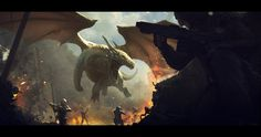 """""""Dragon vs Soldiers"""" by Andree Wallin"""
