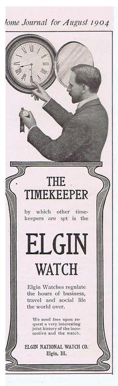 1904 Elgin pocket watch ad