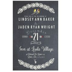 Wedding invite .