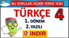 4. Sınıf Türkçe 1. Dönem 2. Yazılı Test | Türkçe 4. Sınıf Yazılı Instagram