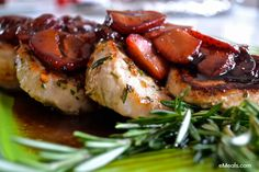 These strawberry balsamic pork chops have gotten SO many rave reviews. Delicious and nothing artificial. #cleaneating