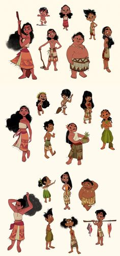 bobbypontillas: Moana's out in theaters today! After animation wrapped on Big Hero, I had the opportunity to help out with design on Moana. One of my assignments was to design the village kids from her island of Motunui. I hoped to bring a sense of authenticity to how they looked, and to make them real for me I thought a lot about watching my little cousins grow up back in the Philippines =) Thankful for them!