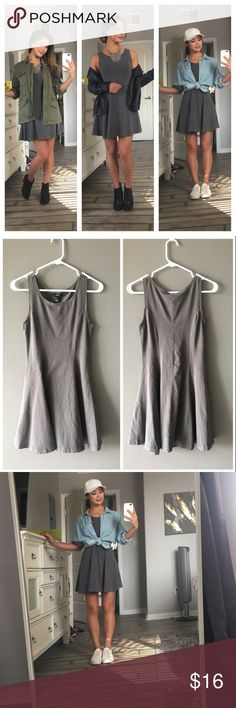 Slate gray, PERFECT mix n match summer dress!👗☀️ This is thee perfect mix n match dress! From super casual to cute & flirty!👗😍 It's a lightweight, stretchy fabric that's comfy to wear day to night☀️🌙 Feel free to ask questions and make an offer!😉 Dresses