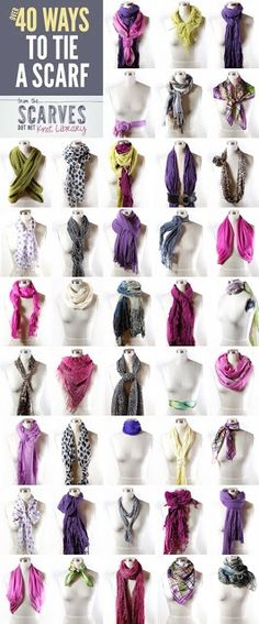 50+ Ways to Tie a Scarf - this is the real link to the scarves.net library