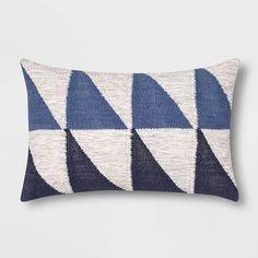 Color Blocked Geometric Lumbar Pillow Blue - Project 62™ : Target