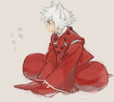 INUYASHA!!! WITH HIS HAIR CUT XD