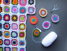 Crochet Mood Blanket Progress