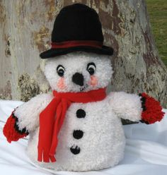 Melt someone's heart with a lovable, huggable snowman craft. This kit has everything you need to crochet your own craft snowman to give as a gift or use as a handmade Christmas decoration. $21.67