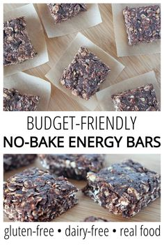Budget-Friendly No-Bake Energy Bites - The cheapest version of Energy Bites. It uses all real food, but with an eye toward making it as inexpensive as possible. Gluten-free, dairy-free, and egg-free! Instead of making Clean Eating Recipes For Dinner, Clean Eating Desserts, Clean Eating Breakfast, Clean Eating Meal Plan, Eating Healthy, No Bake Energy Bites, Energy Bars, Real Food Recipes, Snack Recipes