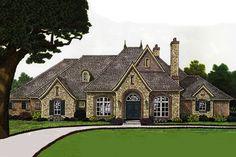 European Style House Plan - 4 Beds 3.50 Baths 3510 Sq/Ft Plan #310-678 Exterior - Front Elevation - Houseplans.com