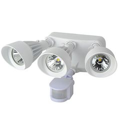 Morris Products 72565 LED Motion Activated Security Flood Lights 3 Head 36 Watts White - Our LED Motion Activated Security Light saves energy on your outdoor security lighting. Turn Light, Light Sensitivity, Dusk To Dawn, Led Wall Lights, Save Energy, Binoculars, Security Lighting, 10 Seconds, Courtyards