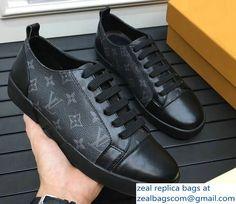 Louis Vuitton Men\'s Match-Up Sneakers 1A2R4U Monogram Eclips/Encre Canvas