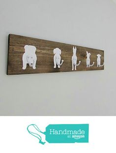 Coat Rack Hooks Hats Jackets Dog Leashes Rustic Home Decor Wood Gift For Dog Lover Coat Hooks Mudroom Entrance Way Coat Jacket Organization Closet from Sweet Bella Stationery Pet Accessories, Dog Toys, Cat Toys, Pet Tricks Dog Signs, Wall Signs, Home Decor Accessories, Decorative Accessories, Dog Lover Gifts, Dog Lovers, Dog Rooms, Dog Crafts, Wood Gifts