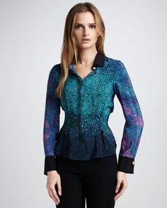 Nanette Lepore Ember Glow Animal-Print Blouse - Neiman Marcus