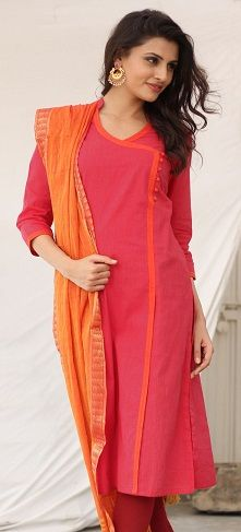 Latest Angrakha Style Dresses Designs Collection for Women Salwar Neck Designs, Kurta Neck Design, Dress Neck Designs, Neck Designs For Suits, Blouse Designs, Simple Kurti Designs, New Kurti Designs, Kurta Designs Women, Chudidhar Designs