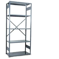 """Equipto V-Grip 84"""" Shelving Unit - Open Add On - with 5 Shelves Size: 84"""" H x 36"""" W x 12"""" D, Finish: Textured Green"""