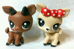 Rudolph and Clarice * OOAK Custom Littlest Pet Shop Christmas
