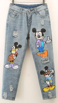 These pants are a must-have this fall for any hardcore Disney fan! - - These pants are a must-have this fall for any hardcore Disney fan! Disney Fashion These pants are a must-have this fall for any hardcore Disney fan! Cute Disney Outfits, Disney World Outfits, Disneyland Outfits, Disney Inspired Outfits, Disney Style, Outfits For Teens, Disney Fashion, Painted Jeans, Painted Clothes