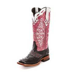 Lucchese Black Full Quill Cowgirl Boots