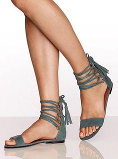 Ankle-tassel Sandal - Colin Stuart® - Victoria's Secret.  So cute!