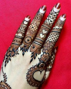 Explore latest Mehndi Designs images in 2019 on Happy Shappy. Mehendi design is also known as the heena design or henna patterns worldwide. We are here with the best mehndi designs images from worldwide. Henna Hand Designs, Mehndi Designs Finger, Modern Henna Designs, Mehndi Designs Book, Mehndi Designs For Girls, Mehndi Designs For Beginners, Wedding Mehndi Designs, Mehndi Designs For Fingers, Latest Mehndi Designs