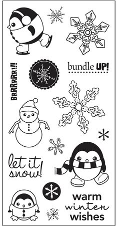 "Winter Wishes Simple Stick™ Repositionable Rubber Stamps (4"" x 8"")"