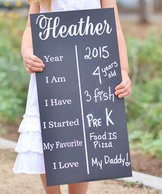 Birthday Chalkboard - such a fun birthday photo tradition!