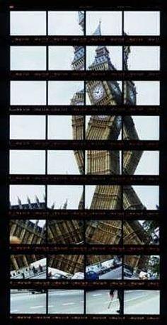 "Thomas Kellner: 14#09, London, Big Ben, 1999, C-Print, 15,3x31,4 cm/5,9""x12,2"", edition 10+3"