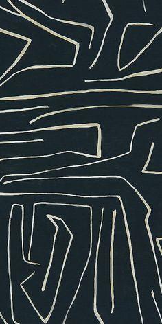 KELLY WEARSTLER | GRAFFITO FABRIC. In Onyx/Beige