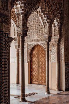 The Alhambra in Granada, Spain: A palace of Moorish dreams and design envy. Mosque Architecture, Art And Architecture, Beautiful Mosques, Beautiful Places, Mecca Islam, Islamic Wallpaper, Islamic Pictures, Moorish, Beautiful Architecture