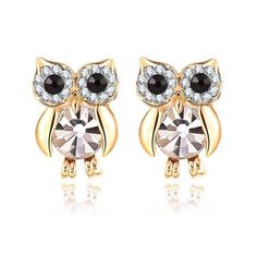 Jewelry - Crystal Owl Earrings