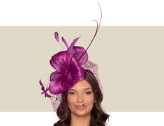 Beautiful Fancy, Magenta Purple, Fascinator Hat for Women Purple Fascinator, Fascinator Hats, Headpiece, Magenta, Cocktail Hat, Fancy Hats, Kentucky Derby Hats, Wedding Hats, Color Trends