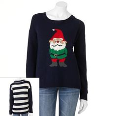It's Our Time Elf Ugly Christmas Sweater - Juniors