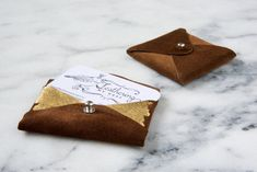 Diy suede and gold leaf business card holder business card case gold leaf business card case lovely indeed see more how to get free leather for crafts and 14 leather craft ideas colourmoves
