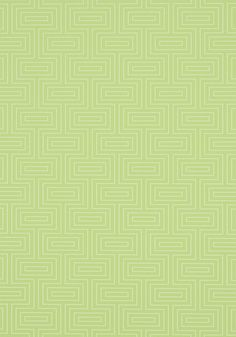 Broadway #wallpaper in #green from the Graphic Resource collection. #Thibaut
