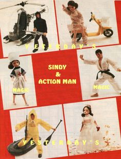 Instant Download PDF : Barbie Sindy Action Man Doll Clothes Sewing and Knitting Pattern
