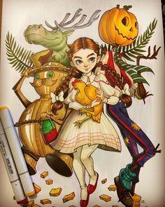 Return to Oz art by Chrissie Zullo