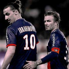 David Beckham and Zlatan Ibrahimovic playing for Paris PSG. Zlatan, please join the MLS!