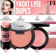 Fenty Beauty Yacht Lyfe Match Stix Shimmer Skinstick Dupes - All In The Blush - Care - Skin care , beauty ideas and skin care tips Maybelline Makeup, Lipstick Dupes, Eyeshadow Dupes, Drugstore Makeup, Sephora Makeup, Lipsticks, Estee Lauder Double Wear, Kylie, Hoola Benefit