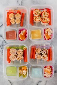 Pinwheelspacked for lunch with @EasyLunchboxes containers - Lanchinho rápido, saudável e fácil de fazer!