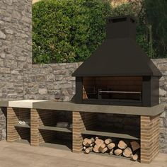 Outdoor Grill Area, Bbq Area, Design Barbecue, Design Cour, Parrilla Exterior, Outdoor Fireplace Patio, Modern Exterior House Designs, Bbq Cover, Outdoor Kitchen Design