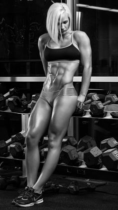 ROCK HARD SIX-PACK ABS of blonde #Fitness model : if you LOVE Health, Workouts & #Inspirational Body Goals - you'll LOVE the #Motivational designs at CageCult Fashion: http://cagecult.com/mma