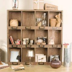 Wooden 12 Compartment Shelf Unit from Not On The High Street. Office Shelf, Kitchen Shelves, Craft Organization, Dream Decor, Wood Furniture, Garden Furniture, Shelving, Sweet Home, Interior Design