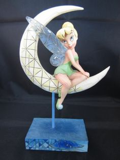 "Jim Shore Tinkerbell Disney ""Moonlight and Magic"" Figurine Tinkerbell And Friends, Tinkerbell Disney, Disney Fun, Disney Parks, Disney Movies, Disney Pixar, Walt Disney, Tinkerbell Fairies, Disney Ideas"