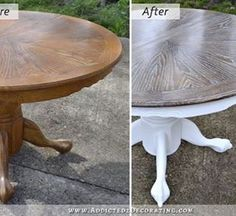 Curb Appeal - 8 Stunning Before & After Home Updates Before After Home, Before And After Pictures, Painted Rug, Painted Furniture, Table Furniture, Christmas Urns, Summer Centerpieces, Painted Front Doors, Easter Brunch