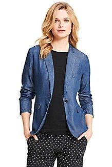FLUID CHAMBRAY BLAZER $149.00