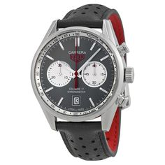 Tag Heuer Carrera Anthracite Dial Black Chronograph Black Leather Men's Watch CV5110FC6310 - Tag Heuer - Shop Watches by Brand - Jomashop