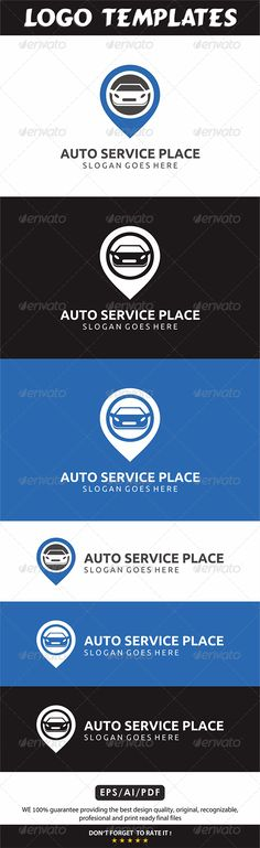 Car Locator Logo by bintank An excellent logo template highly suitable for automotive club and Services. Feature: > 100 Vector Print Ready, CMYK > Editabl